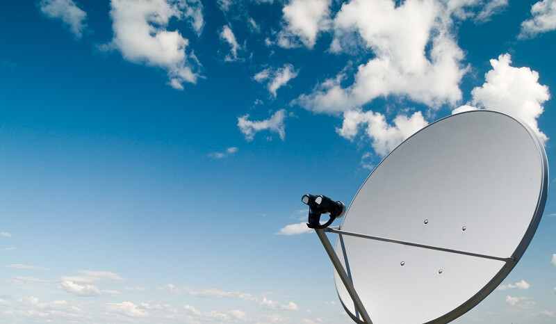 Satellit Uplink Übertragung Live